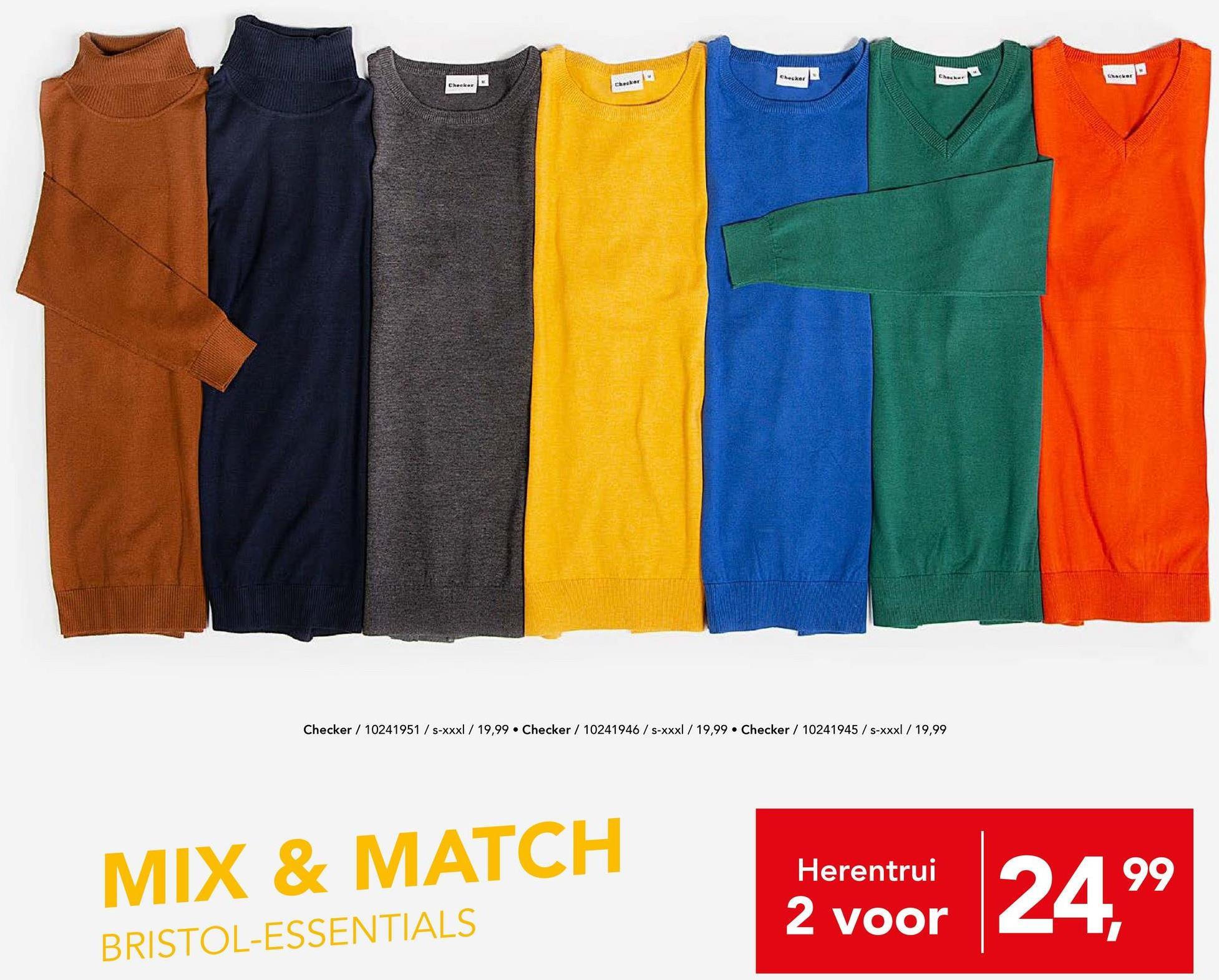 Trui Checker - Zwart Deze casual coltrui van het merk Checker is een echte musthave die niet mag ontbreken in jouw garderobe.