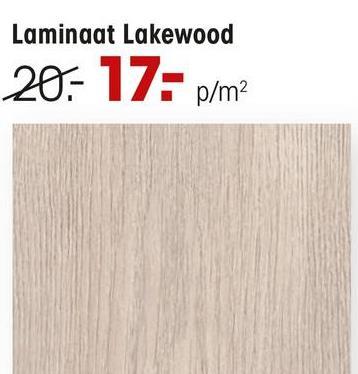 Laminaat Lakewood Naturel Eiken Laminaat Lakewood met een dikte van 8 mm en een 2-zijdige V-groef. Inhoud per pak: 2,5 vierkante meter. Kleur: naturel.