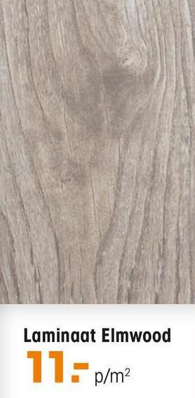 Laminaat Elmwood Grijs Laminaat Elmwood met een dikte van 7 mm en een 2-zijdige V-groef. Inhoud per pak: 2,3 vierkante meter. Kleur: grijs.