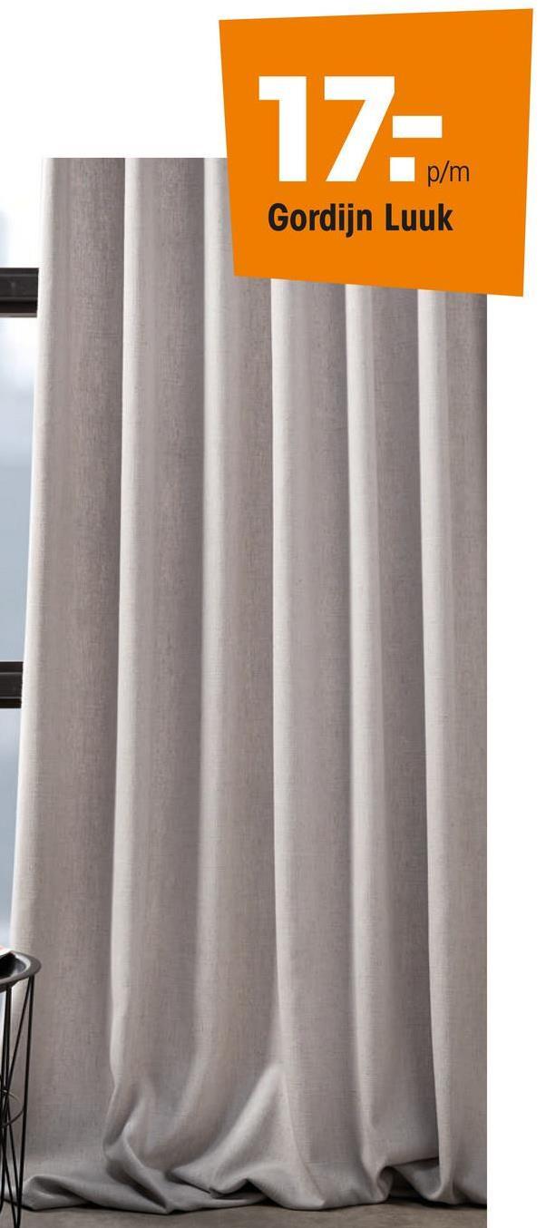Gordijn Luuk Off-white Gordijnstof van luxe off-white materiaal. Sneldrogend en sterk. 142 cm breed.