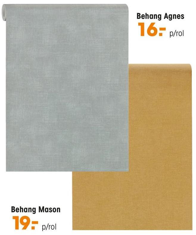 Behang Agnes Groen Vliesbehang met vergrijsd groene kleur. Voorzien van het FSC-keurmerk. Plakken met Perfax Roll-On. 10 meter per rol.