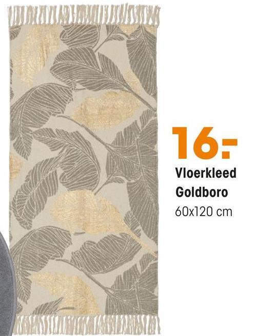 W WYNOWISKUTW 16- Vloerkleed Goldboro 60x120 cm