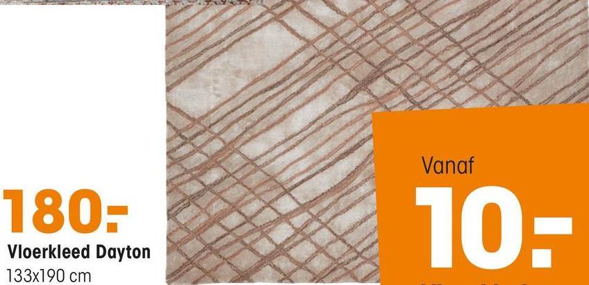 Vloerkleed Dayton Zalm Handgetuft vloerkleed van zacht materiaal met lijnenspel. Voorzien van het Care & Fair keurmerk. Niet wasbaar. 190x133 cm (lxb).