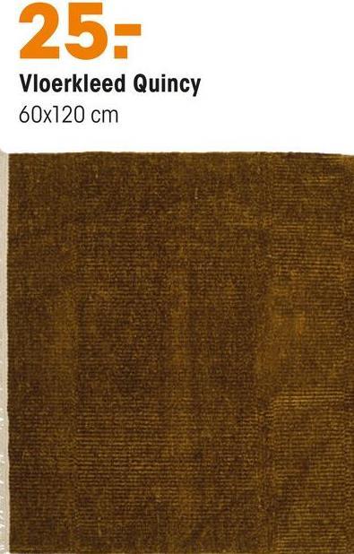 Vloerkleed Quincy Oker Handgeweven vloerkleed van okerkleurige ribstof. Veerkrachtig, geluiddempend en makkelijk in onderhoud. Voorzien van het Care & Fair keurmerk.120x60 cm (lxb).
