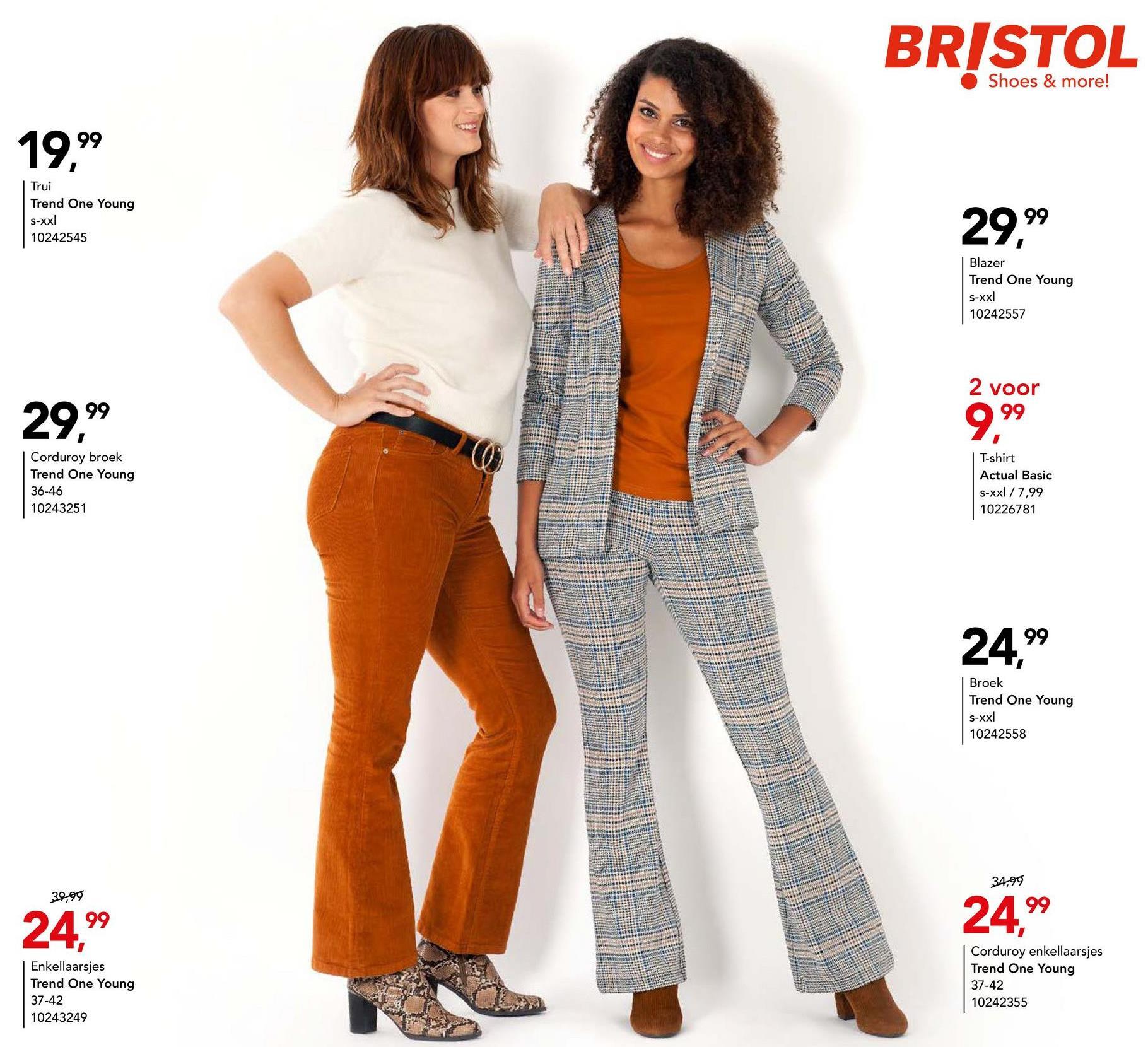 Enkellaars Trend One Young - Grijs Geklede enkellaarsjes met comfortabele blokhak en makkelijke ritssluiting van het merk Trend One Young voor vrouwen.