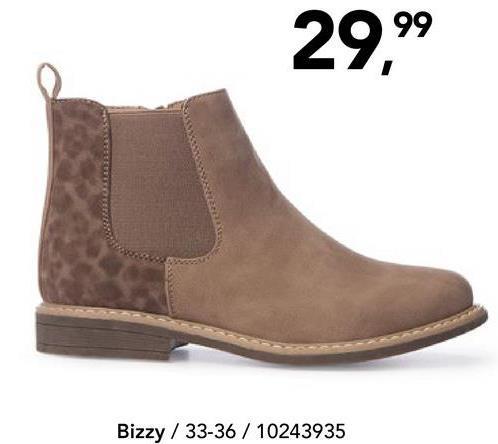 Enkellaars Bizzy - Beige Trendy en comfortabel enkellaarsje met luipaardprint en ritssluiting van het merk Bizzy voor meisjes. Een echte topper!