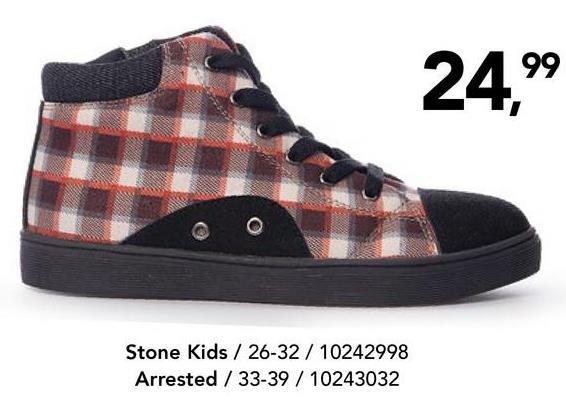 Geruite enkellaars Stone Kids - Bruin Ruitjes zijn cool! Ontdek meteen deze super trendy hoge sneakers voor jongens! Deze sneakers hebben niet alleen veters, ze zijn ook voorzien van een handige ritssluiting.