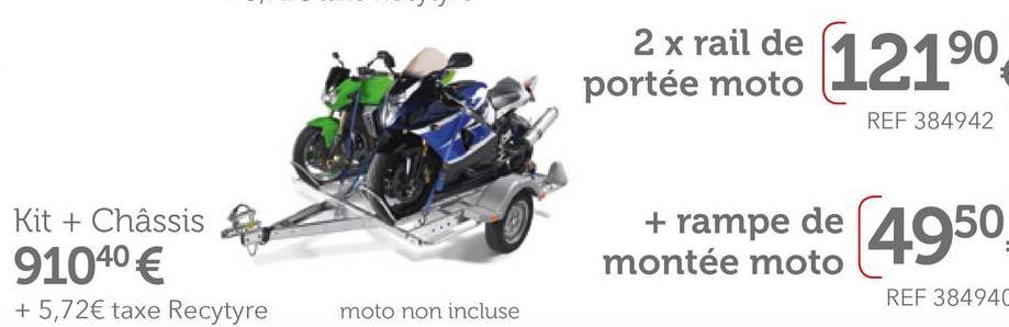 Rail De Portée Moto Pour Châssis Norauto Premium 115 Evo Et 145 Ce rail pour moto est réglable sur toute la largeur du châssis NORAUTO PREMIUM 115 EVO et 145 et se verrouille d'un simple clic (sans aucun outil). Ce rail est très résistant et se monte facilement. Livré avec les vis.