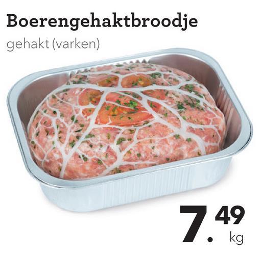 Boerengehaktbroodje gehakt (varken) 7.49