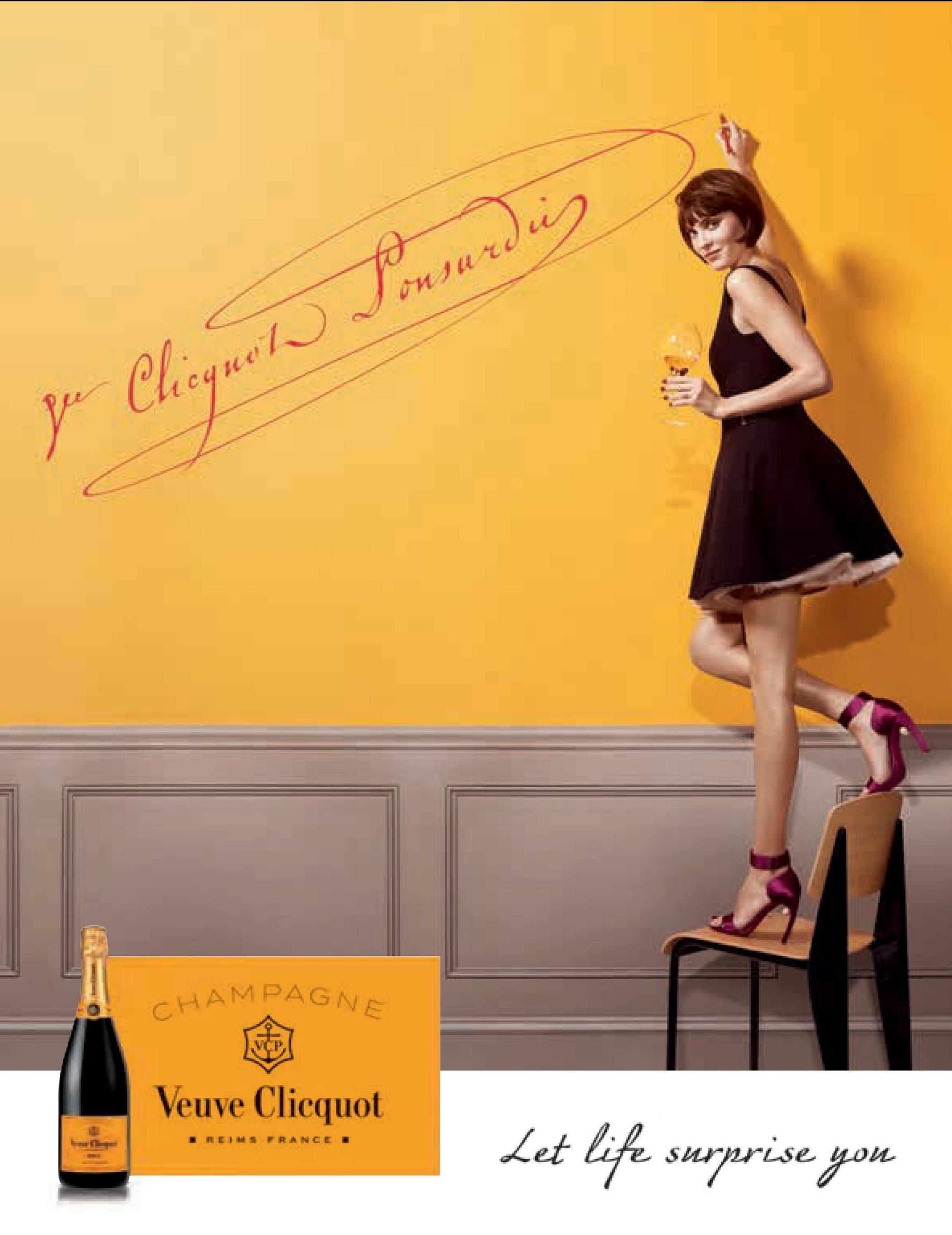 Forwarding po Chequest CHAMPAGNE Veuve Clicquot Let life surprise you