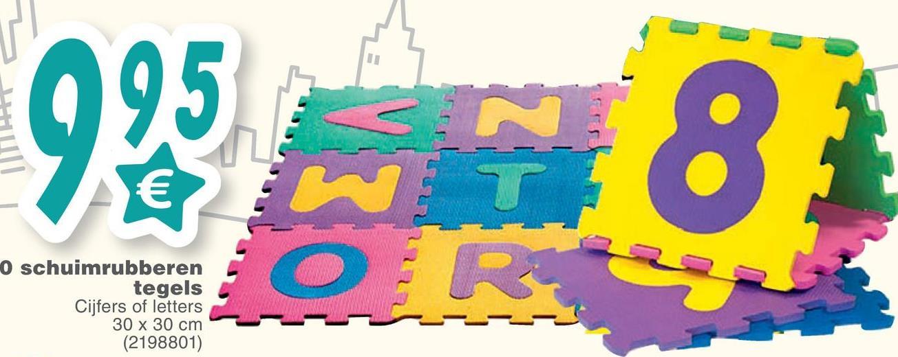 ITET O schuimrubberen tegels Cijfers of letters 30 x 30 cm (2198801)