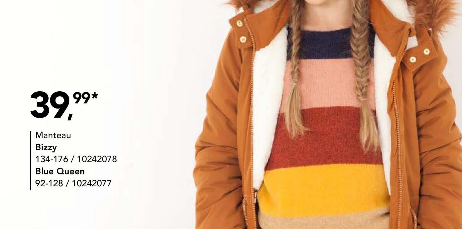 Parka matelassé Bizzy Vous cherchez un beau manteau à bon prix pour filles ? Qu'est-ce que vous pensez de ce modèle en couleur camel à capuche ? Ce manteau est parachevé avec un bord (amovible) en fausse fourrure.