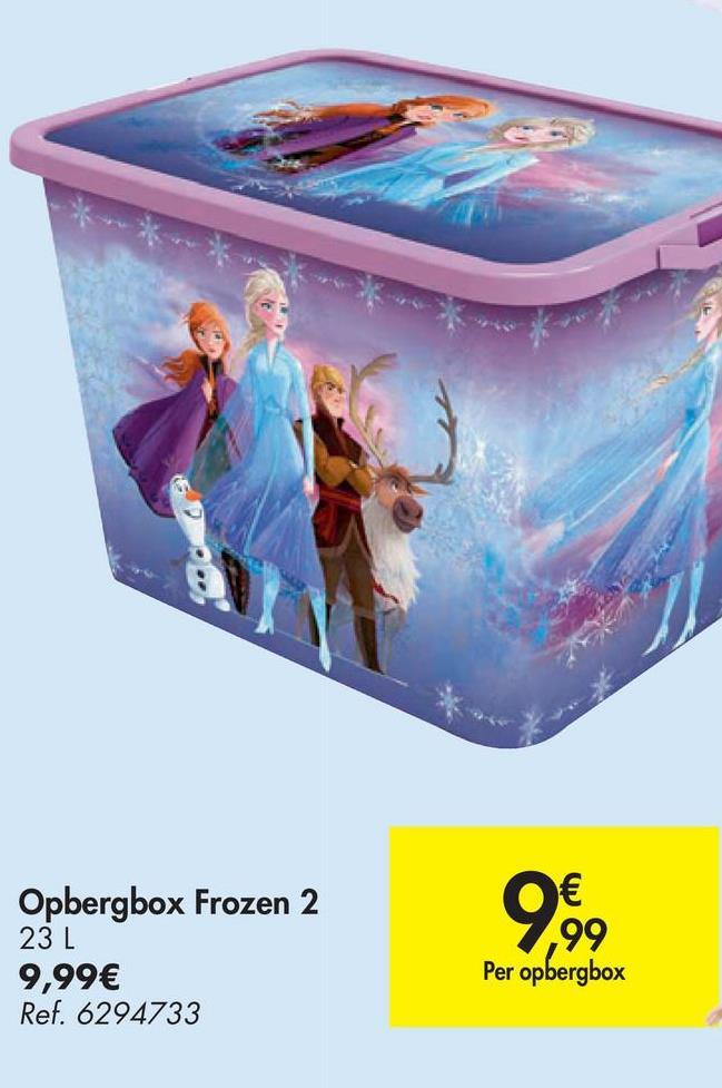 Opbergbox Frozen 2 23 L 99 Per opbergbox 9,99€ Ref. 6294733