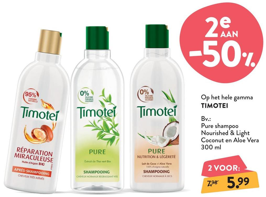 TIMOTEI Pure Shampoo Nourished & Light Coconut TIMOTEI Pure Shampoo Nourished & Light Coconut