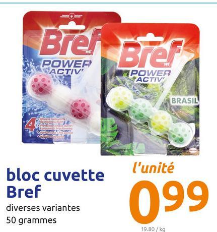 Brei Brer POWER NSACTIV POWER ACTIV BRASIL l'unité lui bloc cuvette Bref diverses variantes 50 grammes 099 19.80 / kg