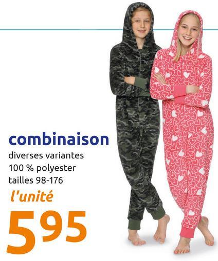 NO combinaison diverses variantes 100% polyester tailles 98-176 l'unité 595