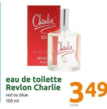 Charlie RED REVLO 100 me eau de toilette Revlon Charlie red ou blue 100 ml 34.90/1