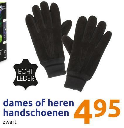 ECHT LEDER dames of heren handschoenen zwart