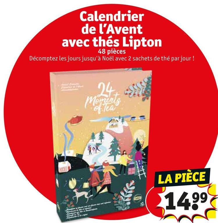 Calendrier de l'Avent avec thés Lipton 48 pièces Décomptez les jours jusqu'à Noël avec 2 sachets de thé par jour ! YA olu LA PIÈCE 1499