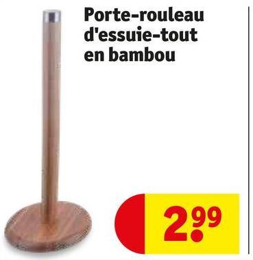 Porte-rouleau d'essuie-tout en bambou 2.99
