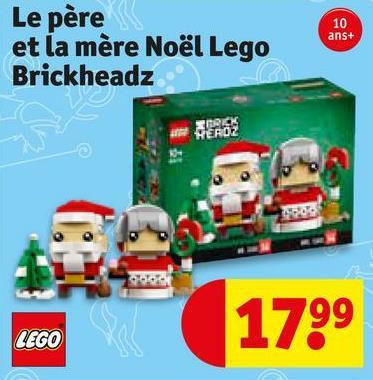 10 ans+ Le père et la mère Noël Lego Brickheadz 1799 GO