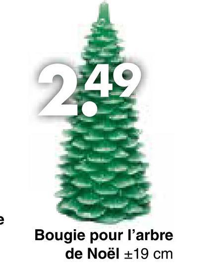 Bougie pour l'arbre de Noël +19 cm