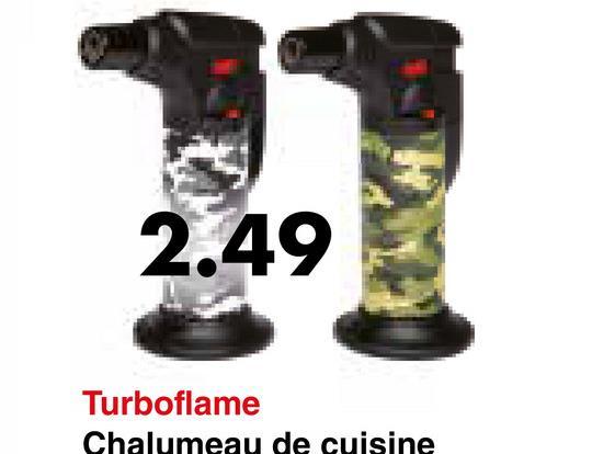 Turboflame Chalumeau de cuisine