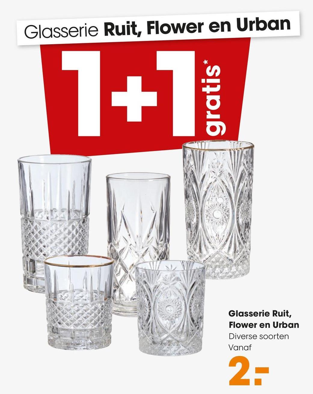 Drinkglas Ruit Helder Kristallook drinkglas met geslepen ruit patroon.