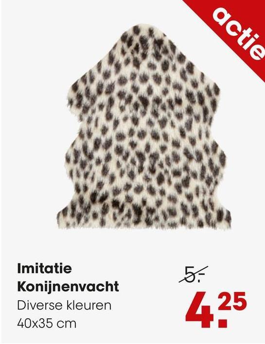 Imitatie Konijnenvacht Vlekjes Grijs Zacht imitatie konijnenvacht grijs met vlekjes. 40x35 cm (lxb).