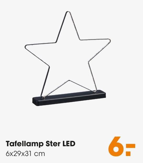 Tafellamp Ster LED 6x29x31 cm 6-
