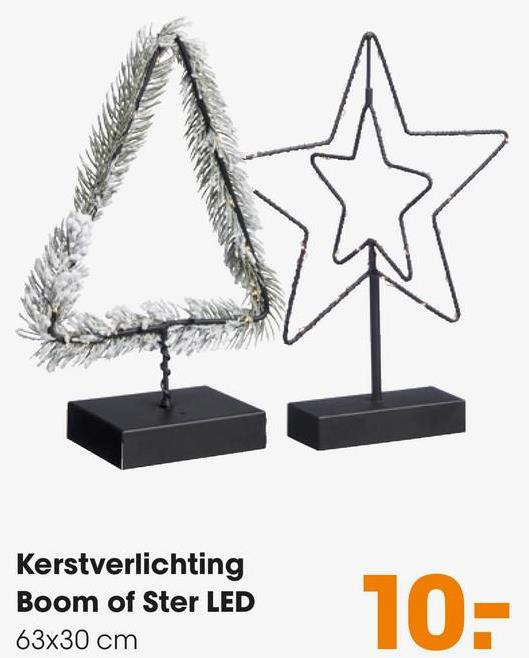 Kerstverlichting Boom of Ster LED 63x30 cm 10-