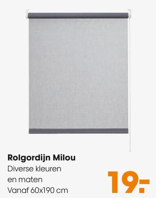 Rolgordijn Milou Diverse kleuren en maten Vanaf 60x190 cm 19-