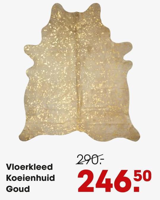 290,- Vloerkleed Koeienhuid Goud Koeienhuid 50 24650