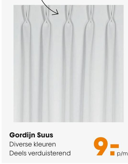 Gordijn Suus Room Moderne en stijlvolle verduisterende gordijnstof Suus. Gemaakt van polyester. Breedte: 145 cm. Kleur: room.