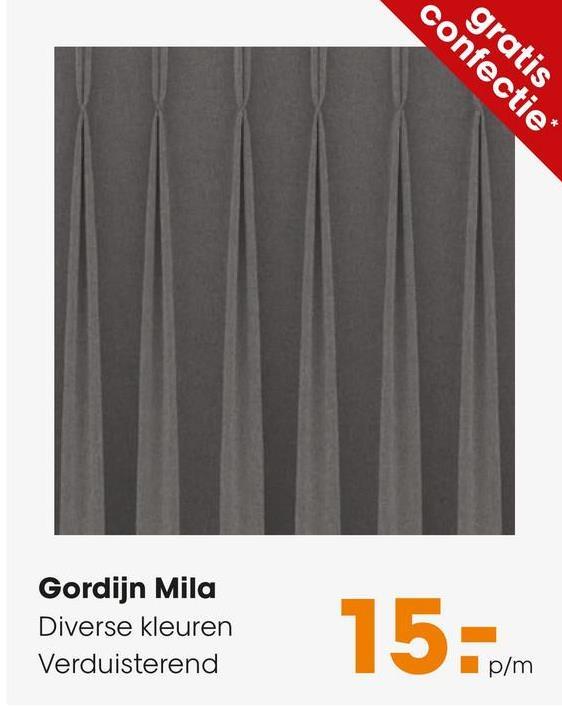 Gordijn Mila Beige Stijlvol gordijn van polyester geschikt voor in ieder interieur. Kleur: beige.