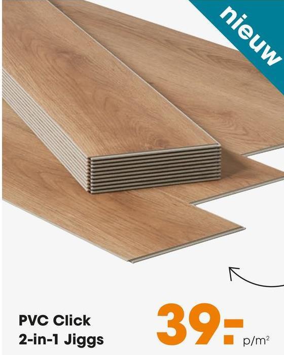 nieuw PVC Click 2-in-1 Jiggs 39 pm p/m