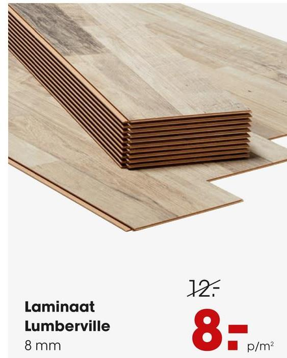 Laminaat Lumberville Eiken Laminaat Lumberville met een dikte van 8 mm. Inhoud per pak 2,22 per vierkante meter. Kleur: Eiken