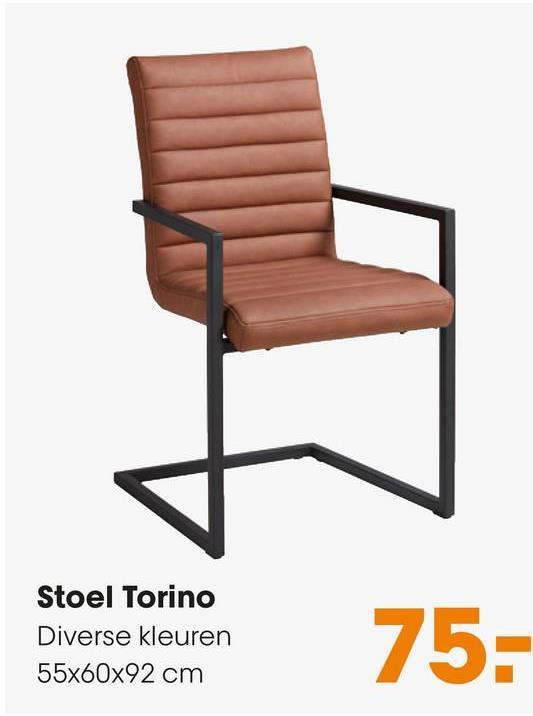 Stoel Torino Grijs Retro stoel met grijze lederlook zitting en zwart metalen onderstel. 55x60x92 cm (lxbxh). 48 cm zithoogte.