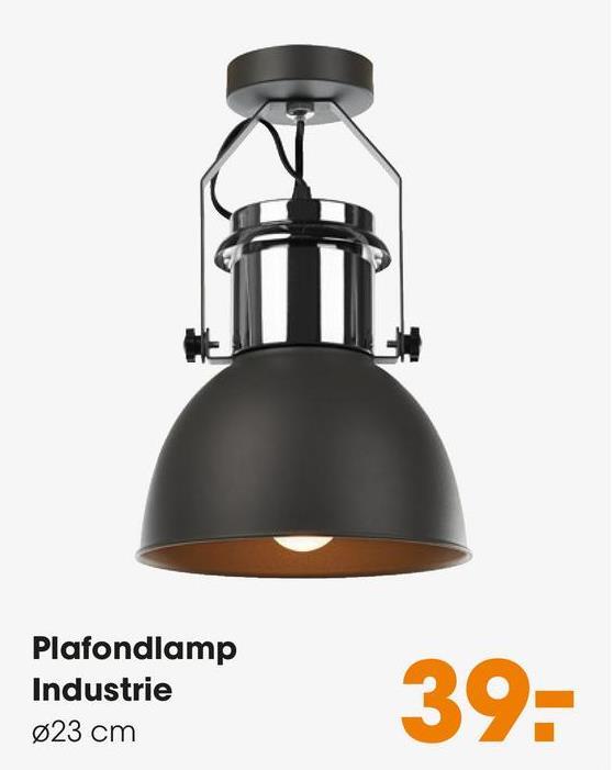 Plafondlamp Industrie Grijs Stijlvolle en moderne plafonnière industrie. Kleur: Grijs.