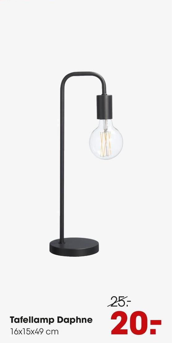 Tafellamp Daphne Koper Trendy tafellamp met een houten voet en koperkleurige arm. Grote fitting E27.