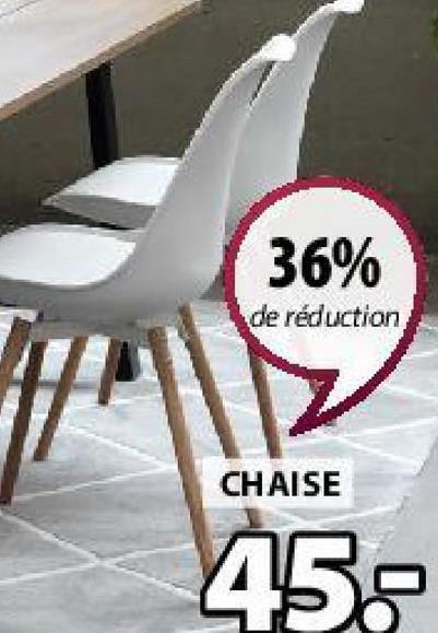36% de réduction CHAISE 45.