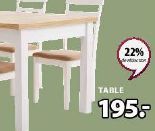 22% de reduction TABLE 195: