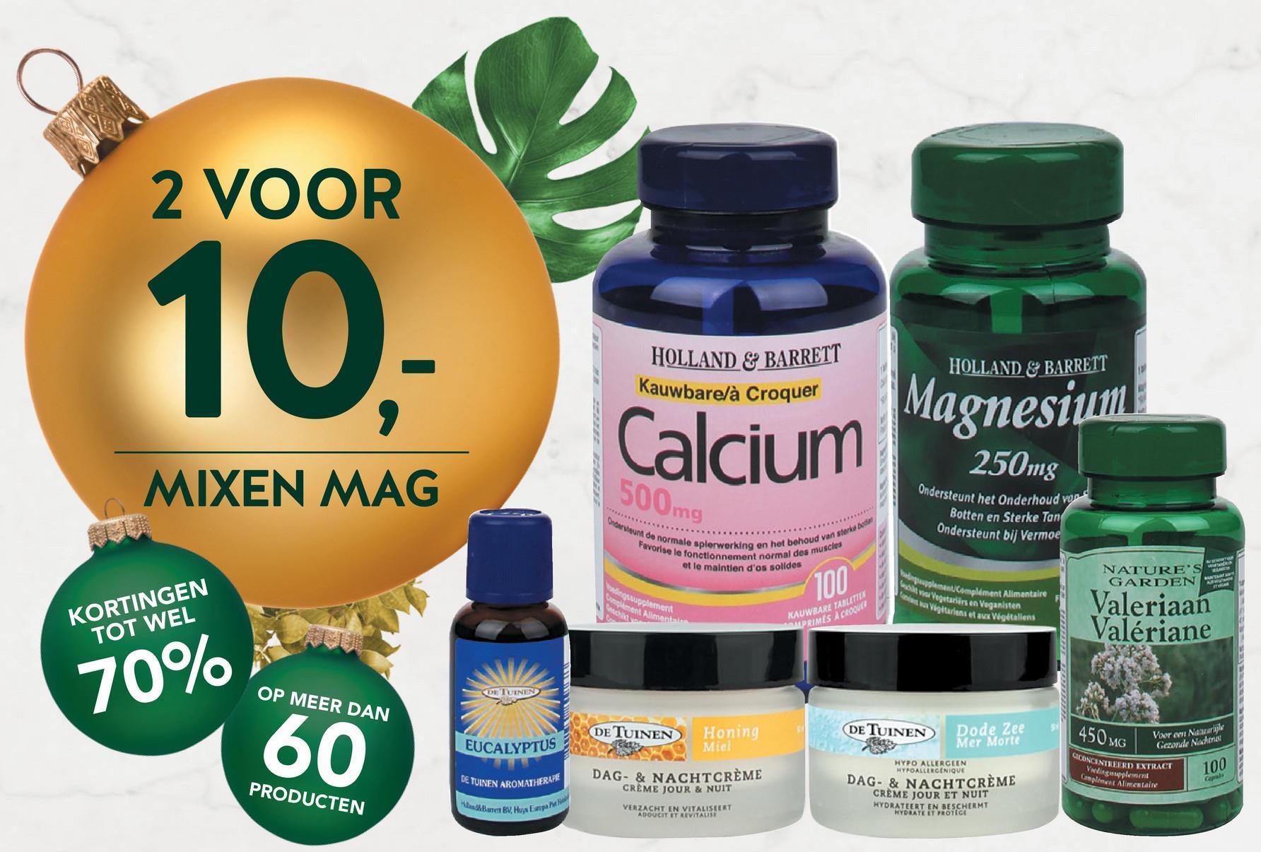 Holland & Barrett Calcium Citraat, 200mg (50 Tabletten) <ul> <li>Calcium is nodig voor de instandhouding van normale botten</li> <li>Geschikt voor vegetariërs en vegans</li> <li> Calcium ondersteunt de normale spierwerking</li> </ul>  Holland &amp; Barrett Calcium Citraat is een vorm van calcium, die goed door het lichaam wordt opgenomen. Een tablet bevat 200mg calcium en is geschikt voor zowel vegetariërs als veganisten.<br><br>  Calcium: <ul> <li>is nodig voor de instandhouding van normale botten en tanden</li> <li>draagt bij tot een normale bloedstolling</li> <li>activeert je natuurlijke energie in het lichaam</li> <li>draagt bij tot een normale werking van de spieren</li> <li>goed/van belang voor het zenuwstelsel</li> <li>speelt een rol bij de spijsvertering</li> <li>helpt bij celdelingsproces</li> </ul>