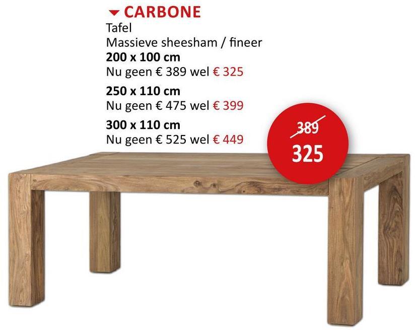 Tafel Carbone 200x100cm Tafels Eettafels