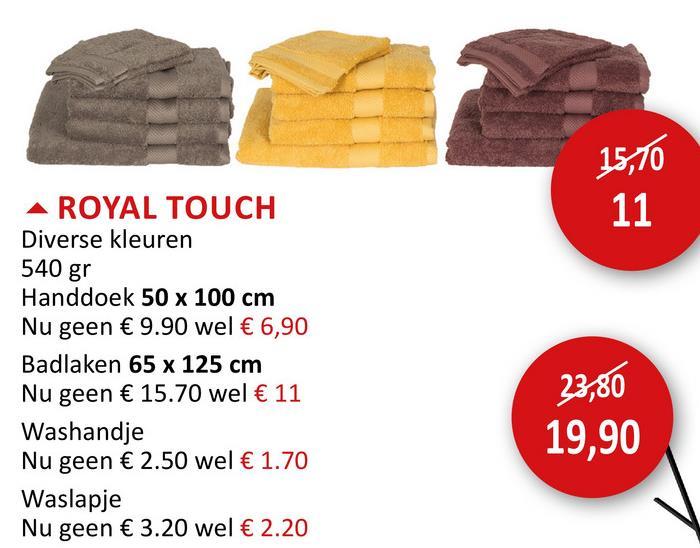 Handdoek Royal Touch 50x100cm linen Badlinnen & -mat Handdoeken