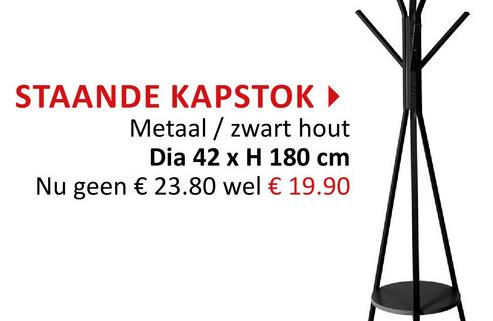 Staande kapstok H180cm Haak & Hang Staande Kapstokken Kapstokken