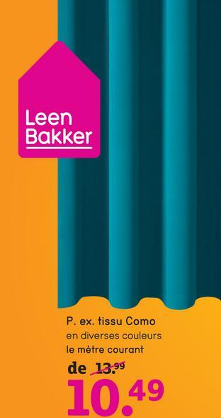 Tissu Como - bordeaux - 150 cm - Leen Bakker Le tissu Como est un tissu bordeaux stylé. Créez facilement une ambiance agréable dans la chambre à coucher ou dans la salle de séjour grâce à ce tissu. Il a 150 cm de large et peut être confectionné dans chaque longueur souhaitée.