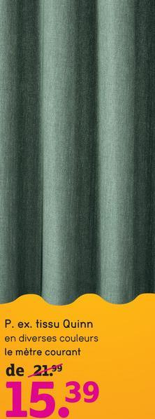 Tissu pour rideaux Quinn - vert - Leen Bakker Avec des rideaux, on complète sa maison. Le tissu pour rideaux Quinn est élégant, indémodable et agréable. Ce tissu est fait de 98% polyester et 2% lin en couleur vert.