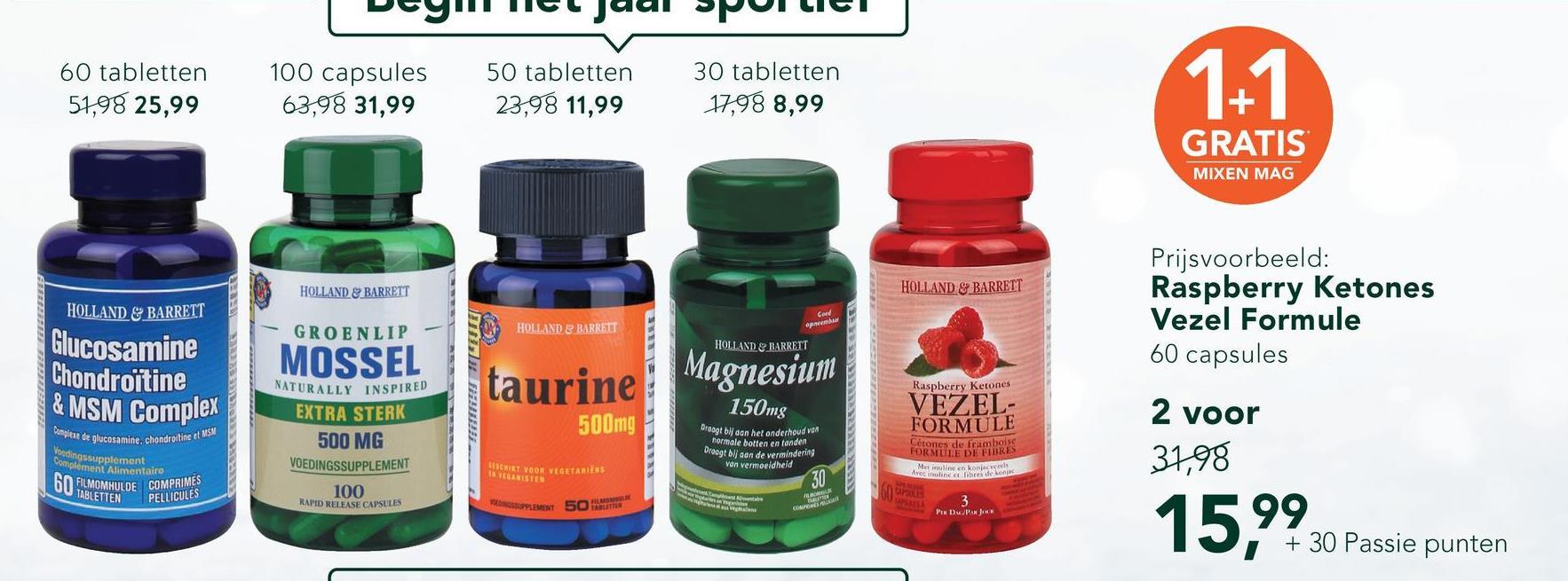 Holland & Barrett Glucosamine Sulphate 500mg 120 capsules <ul><li>Bevat per tablet 500mg glucosamine sulfaat</li> <li>Glucosamine is een van nature in het lichaam voorkomende stof</li> <li>Zeer goed opneembare vorm van glucosamine</li></ul> Glucosamine Sulfaat van Holland &amp; Barrett bevatten per tablet 500mg Glucosamine sulfaat. Glucosamine sulfaat wordt gewonnen uit schaal- en schelpdieren en is een zeer goed opneembare vorm van Glucosamine.<br><br>  Glucosamine komt niet veel voor in voeding en naarmate we ouder worden daalt de aanmaak van glucosamine in het lichaam.