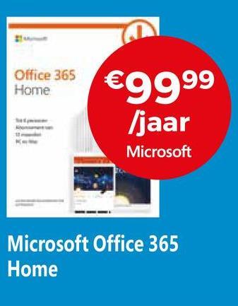 Office 365 Home €9999 /jaar Microsoft Microsoft Office 365 Home
